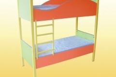 Ліжко дитяче 2-ярусне кольорове 1458х650х1408 мм