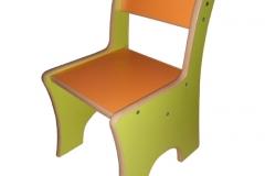 Стілець дитячий ДСП кольоровий h=260-340 мм