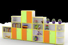 Стінка для іграшок Гірка 3320х320х1570 мм
