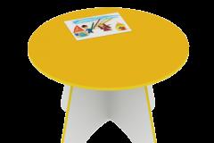 Стіл дитячий круглий 800х430